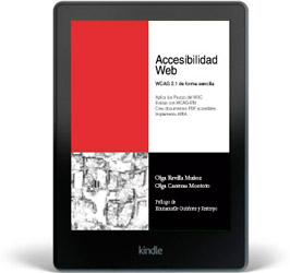 Portada del libro 'Accesibilidad Web. WCAG 2.1 de forma sencilla' de Olga Revilla y Olga Carreras en formato electrónico